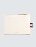 Thom Browne Pebble Grain Leather Small Coin Purse (14.5 cm) with Horizontal Stripes Picture