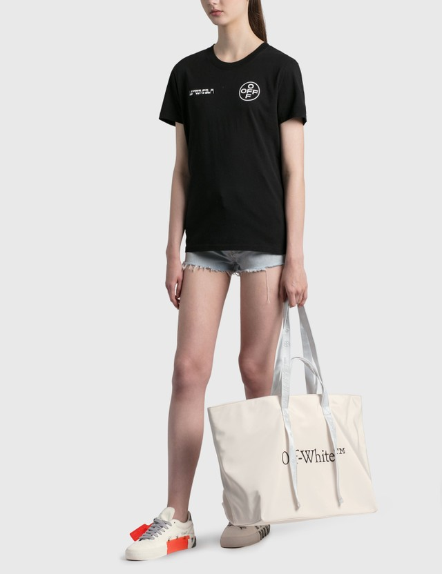 Off-White Painting Casual T-shirt Black White Women