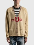 "Saint Laurent ""24 U SL"" Destroyed Collegiate Cardigan Picture"
