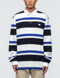 Maison Kitsune Irregular Stripes L/S Polo Shirt Picture