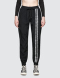 Danielle Guizio Nylon Trackpants Silver Single Font Picture