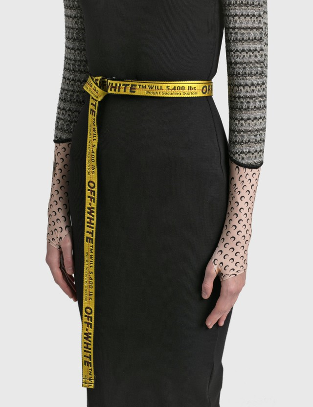 Off-White Mini Industrial Belt Yellow Black Women