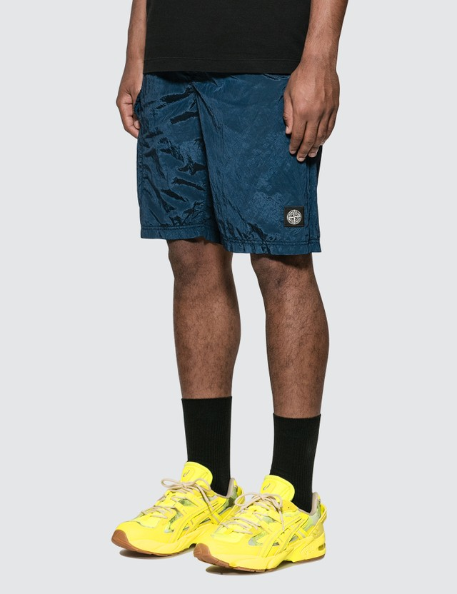 Stone Island Nylon Shorts With Side Pocket