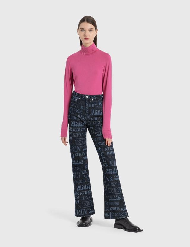 Kirin Typo Laser RD Flare Pants Blue A Light B Women