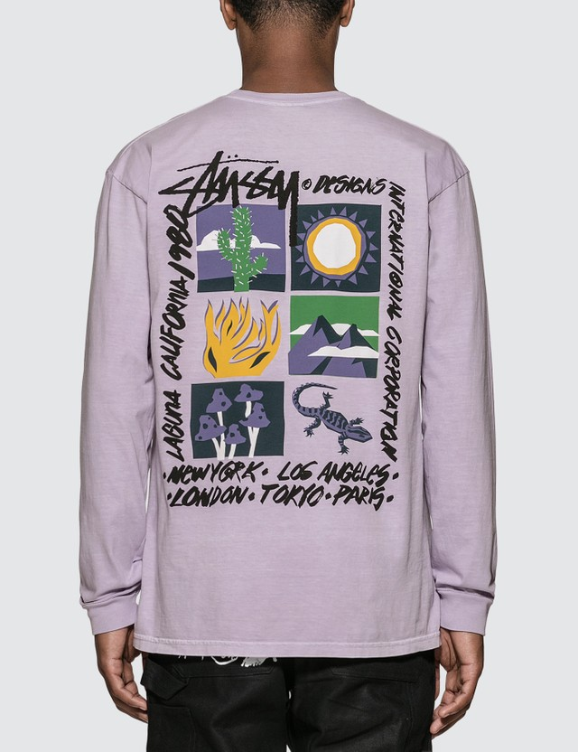 Stussy High Desert Pigment Dyed Long Sleeve T-Shirt