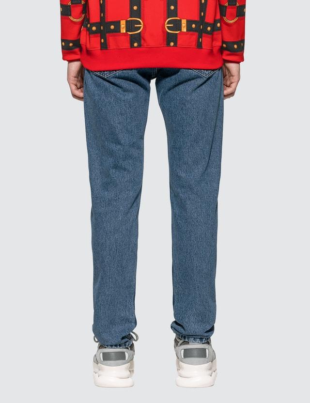 Versace Medusa Rivet Straight Leg Jeans