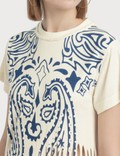 Loewe Fringe T-shirt Off-white/blue Women