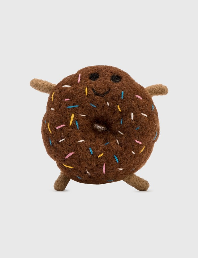 Ware of the Dog Felted Wool Donut Brown Life