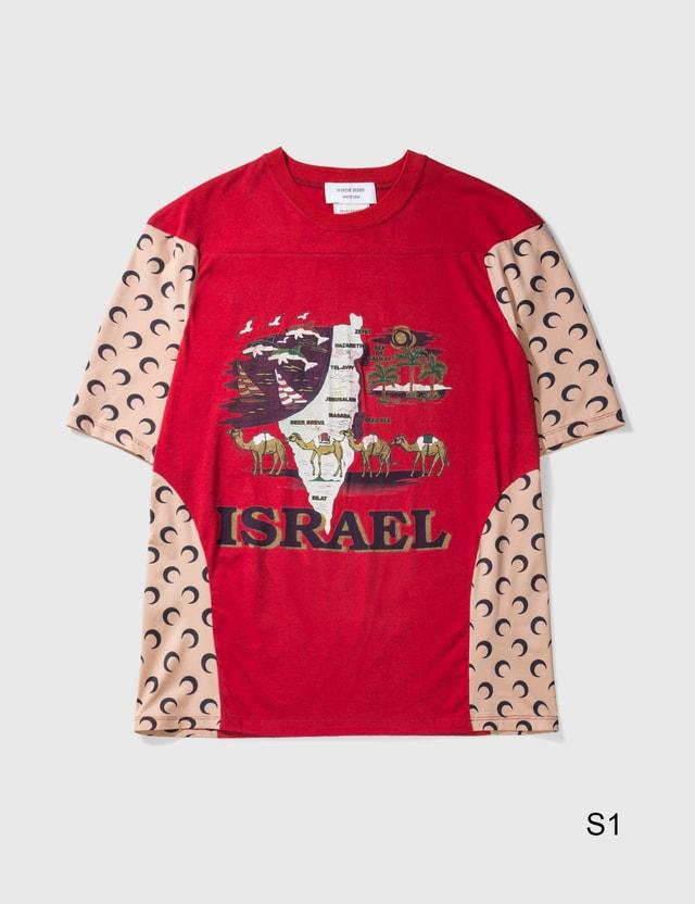 Marine Serre Moon Intervened T-shirt 02 Red Color Women