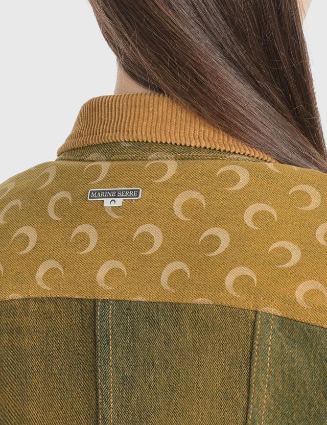 Marine Serre Regenerated Denim Jacket 4 Yellow Dark Women