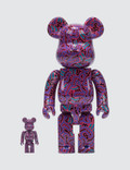 Medicom Toy Keith Haring Bearbrick 100% + 400% Set (ver. 2) Picutre