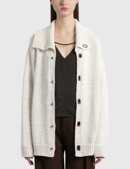 Bottega Veneta Wide Collar Knitted Cardigan