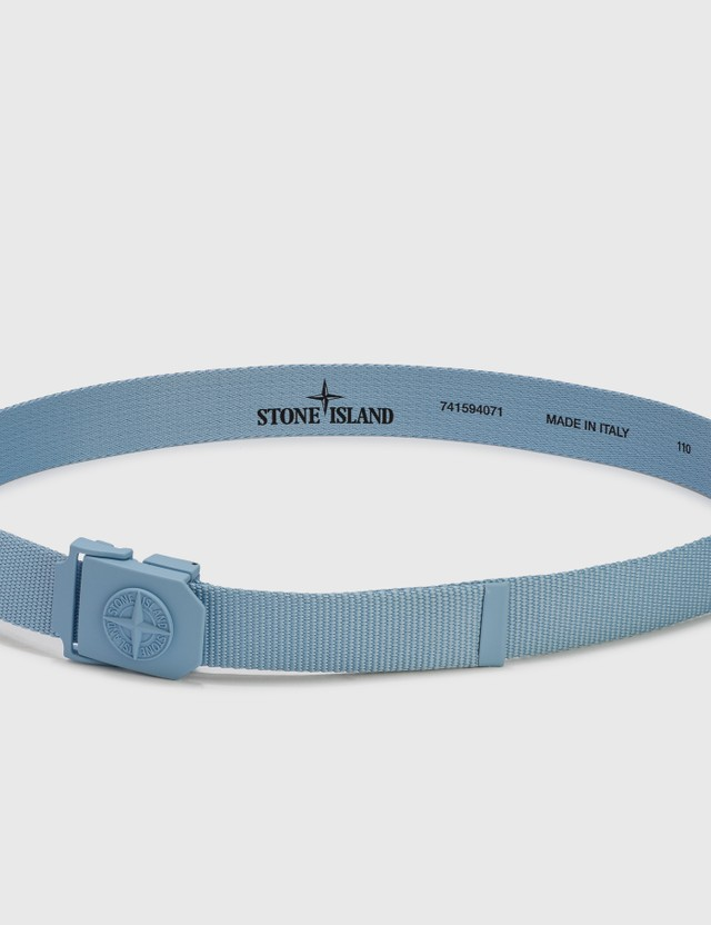 Stone Island Nylon Tape Belt Sky Blue  Men