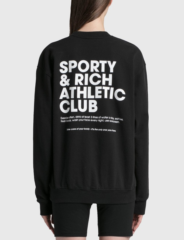 Sporty & Rich Exercise Often Crewneck Black/white Women