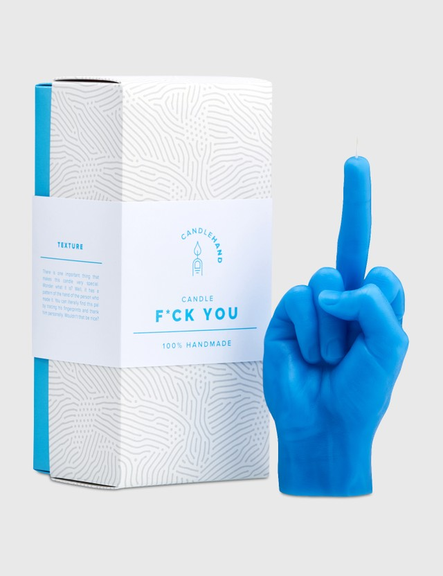 Candle Hand F*CK YOU Candle Blue Unisex