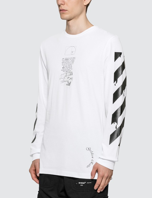 Off-White Dripping Arrows Long Sleeve T-Shirt