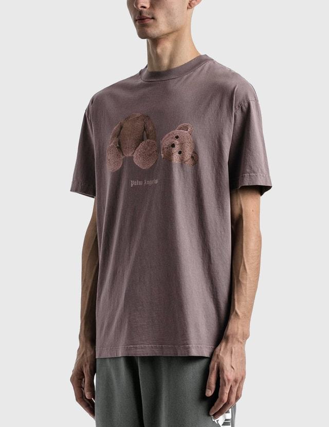 Palm Angels Palm Angels Bear Classic T-shirt Purple Men