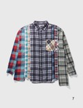 Needles 7 Cuts Wide Flannel Shirt Multicolor Men