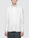 Maison Kitsune Oxford Tricolor Fox Patch Classic Shirt Picutre