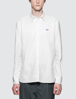 Maison Kitsune Oxford Tricolor Fox Patch Classic Shirt