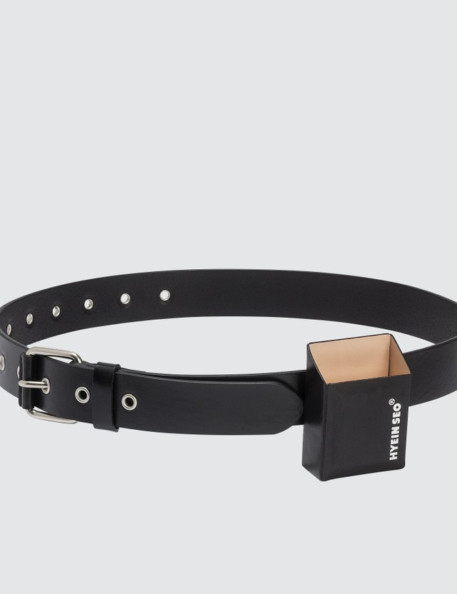 Hyein Seo Leather Belt with Cigarette Holder