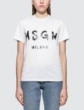 MSGM Brush Strokes Msgm Logo Short Sleeve T-Shirt Picture