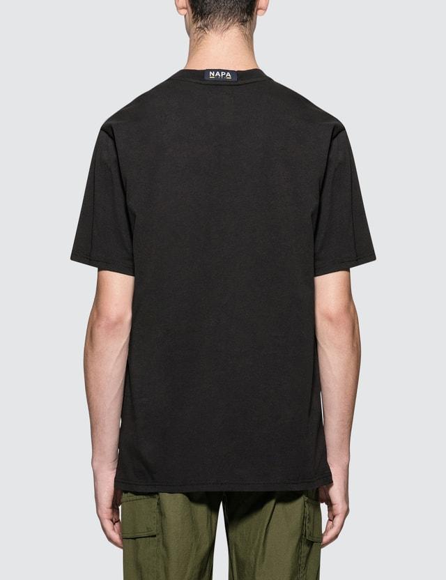 Napapijri Silver Banner Logo S/S T-Shirt Black Men