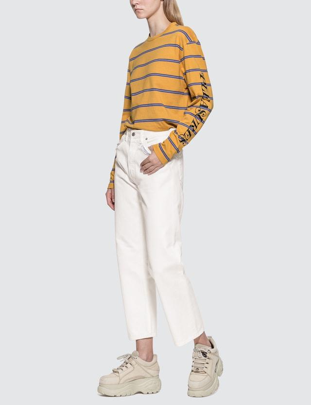 Pleasures Scream Striped Long Sleeve Shirt