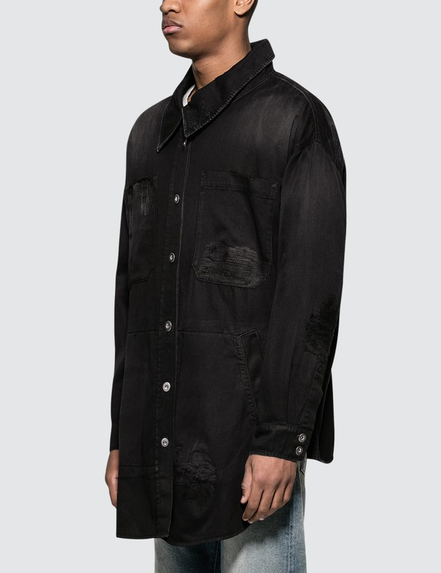 Faith Connexion Rip Denim Overshirt