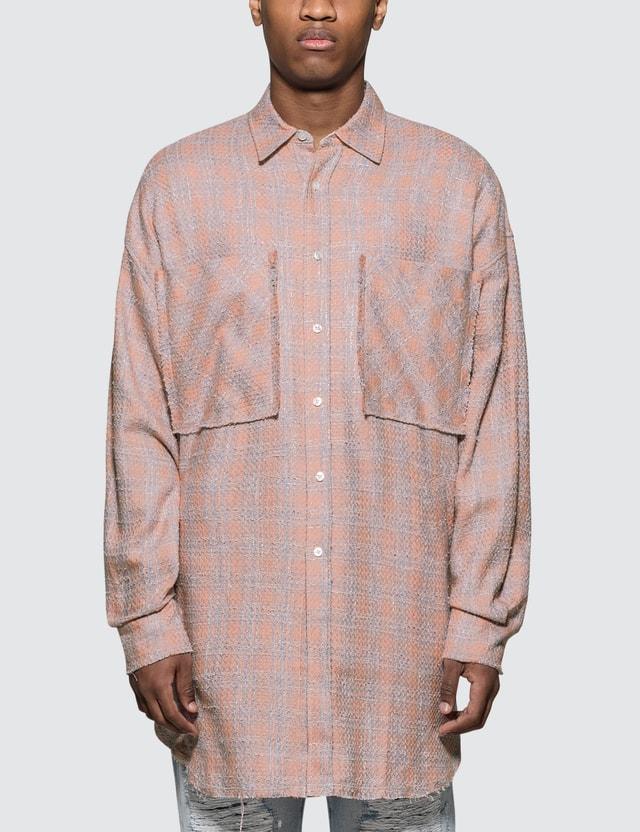 Faith Connexion Tweed Overshirt Pink Men