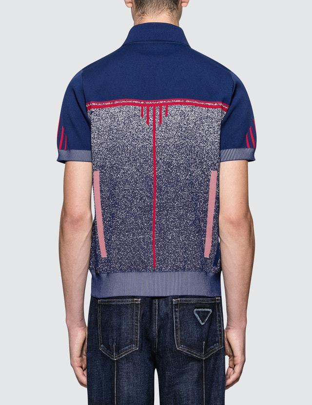 Prada Melange Knitted Polo