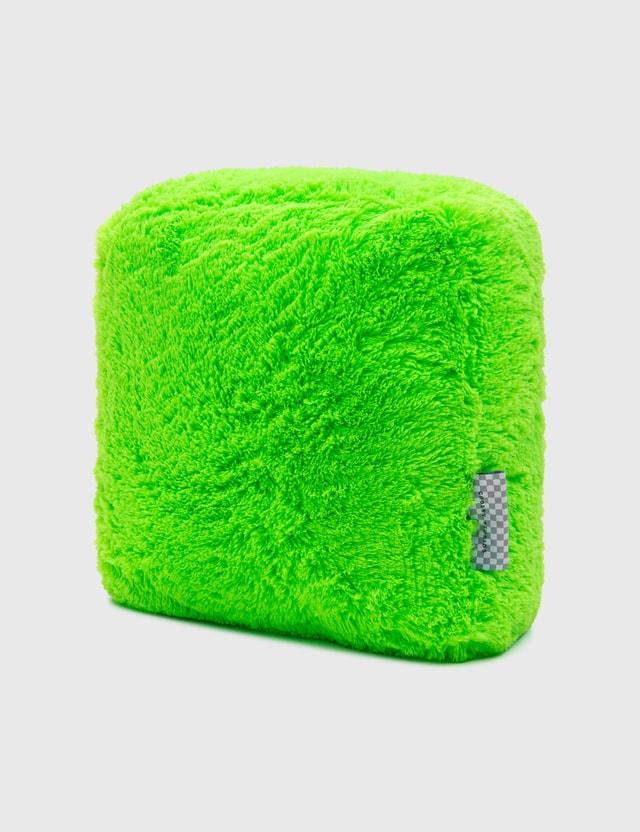 Crosby Studios Green Furry Pillow Green Unisex