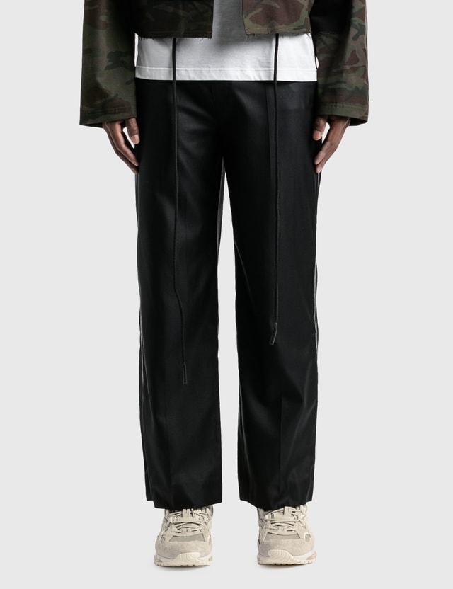 Ader Error White Stitching Straight Pants