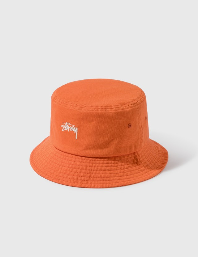Stussy Stock Bucket Hat Coral Men