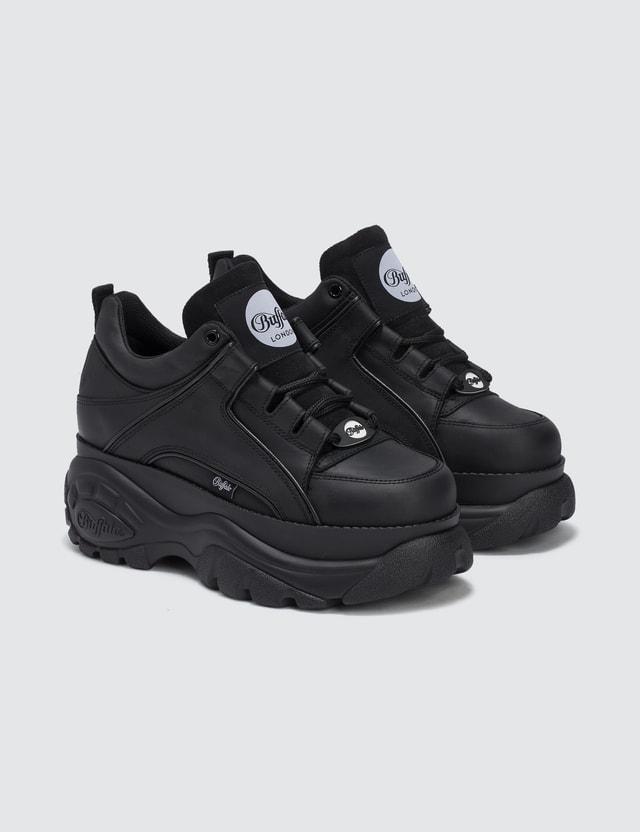 667bbb93aaa Buffalo Classic Black Low-top Platform Sneakers