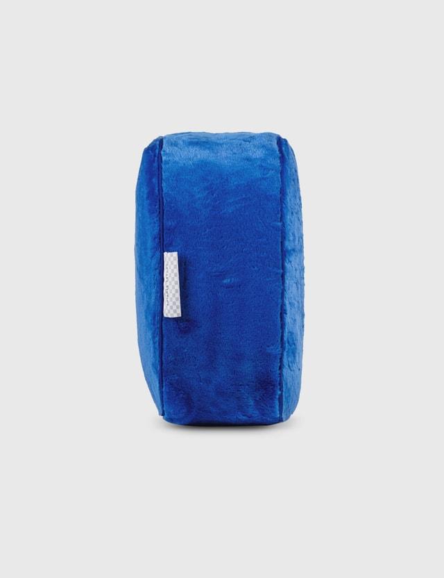 Crosby Studios Blue Short Faux Fur Pillow