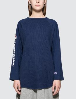 CHAMPION JAPAN | Champion Japan Raglan Sleeve Long Sleeve T-Shirt | Goxip