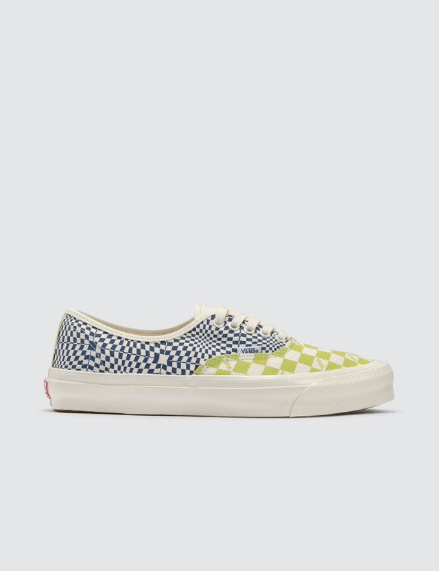 Vans OG Authentic LX (canvas) Logo Check/lime Punch/true Blue Men