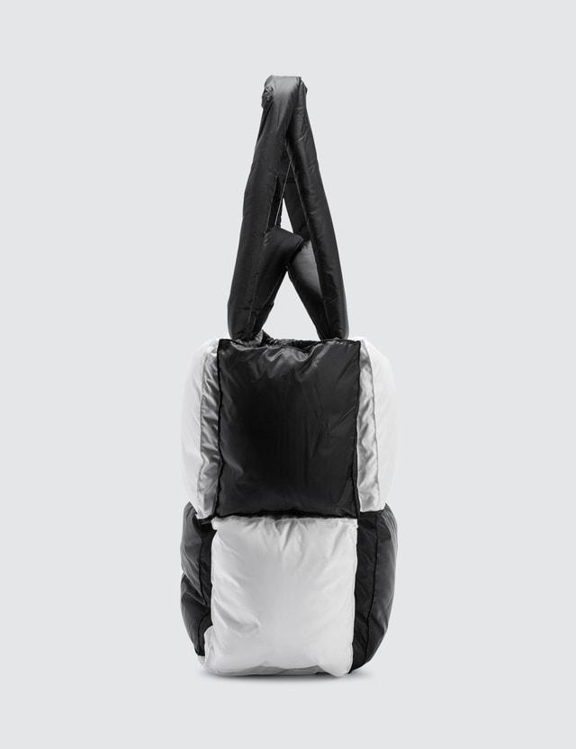 Off-White Small Puffy Checked Nylon Bag