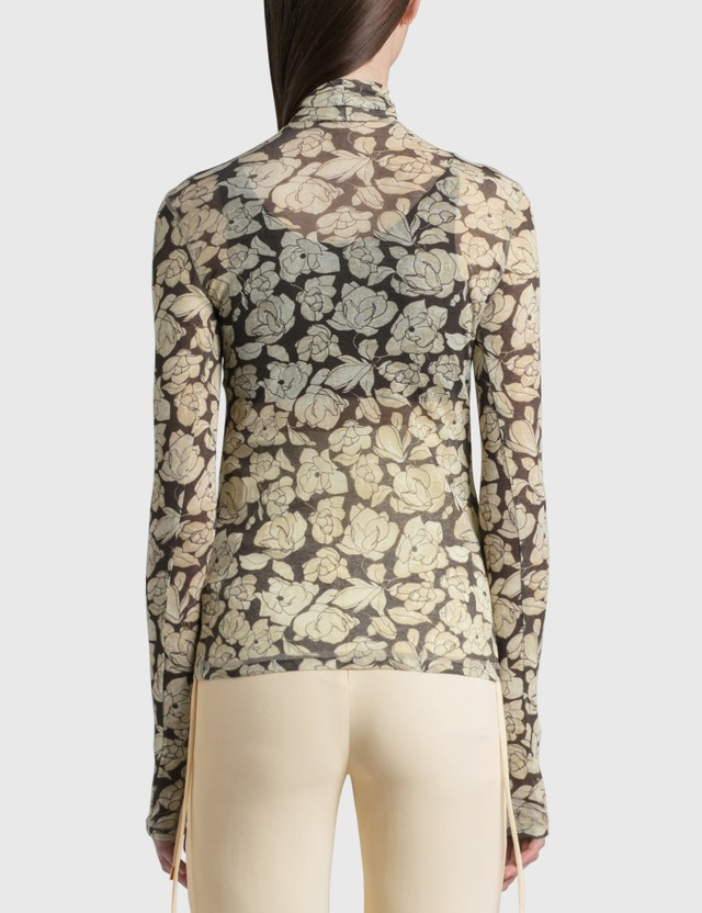 Nanushka Harri Long Sleeve Top Porcelain Rose Women