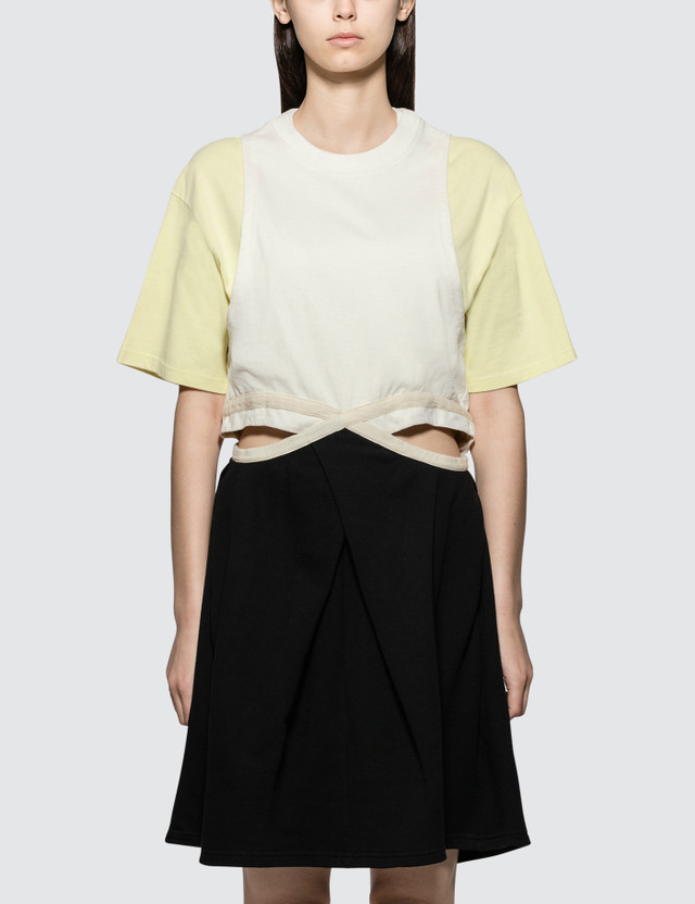 JW Anderson Contrast Cut Out Dress Lemonade Women