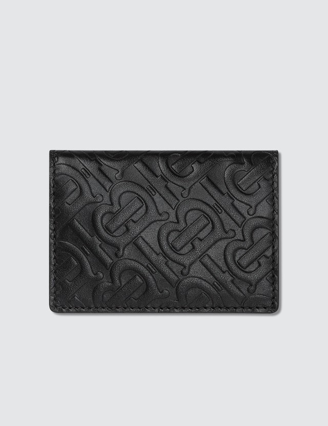 Burberry Monogram Leather Bifold Card Case