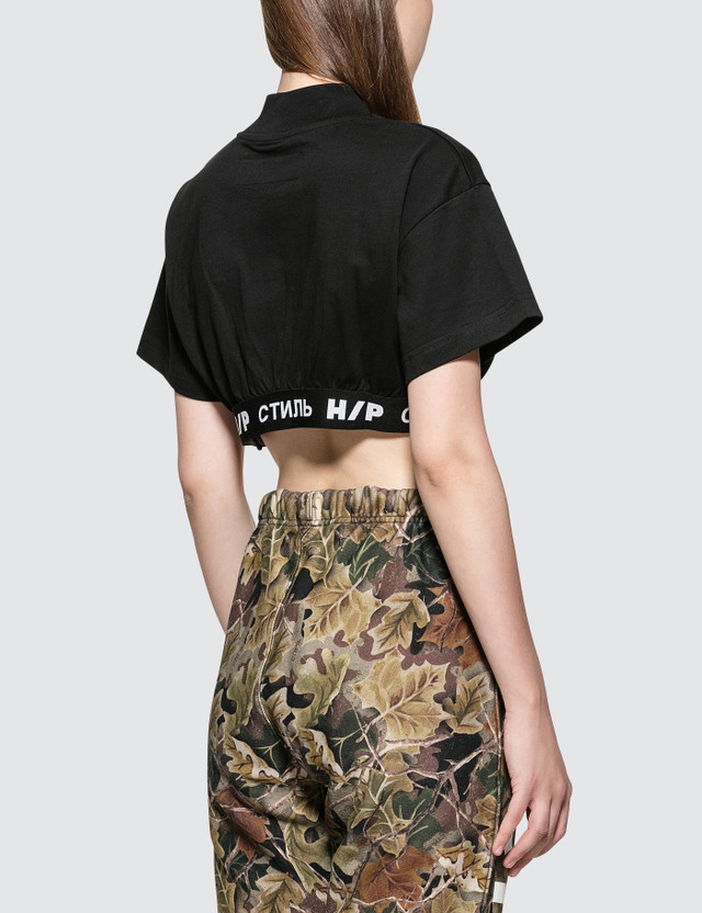 Heron Preston KK CTNMB Crop Short Sleeve T-Shirt With band