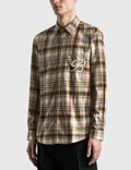 Burberry Embroidered B Motif Stretch Cotton 셔츠 Archive Beige Ip Chk Men