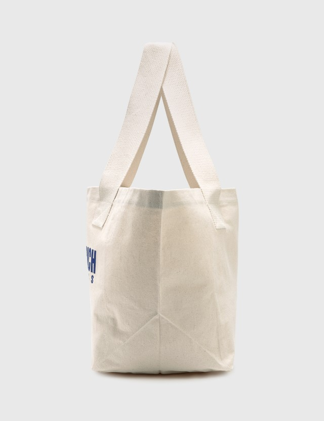 Sporty & Rich Team Logo Tote Natural/blue & Red Women