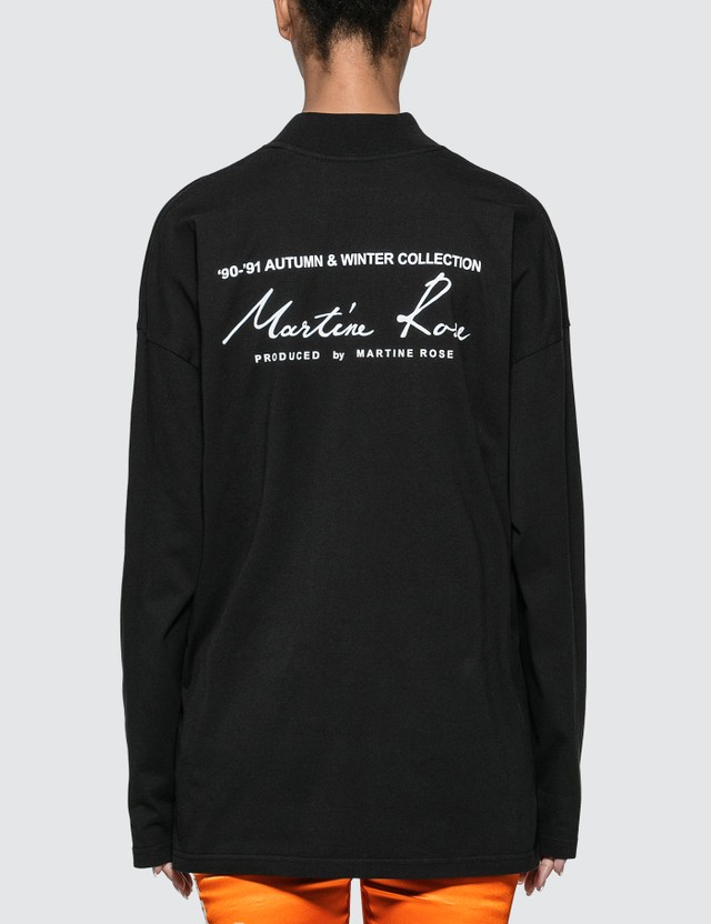 Martine Rose Jersey Funnel Neck Long Sleeve T-shirt