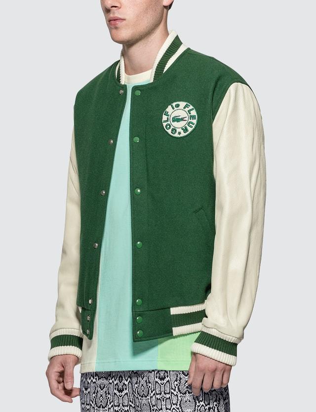 Lacoste GOLF le FLEUR* x Lacoste Wool Varsity Jacket
