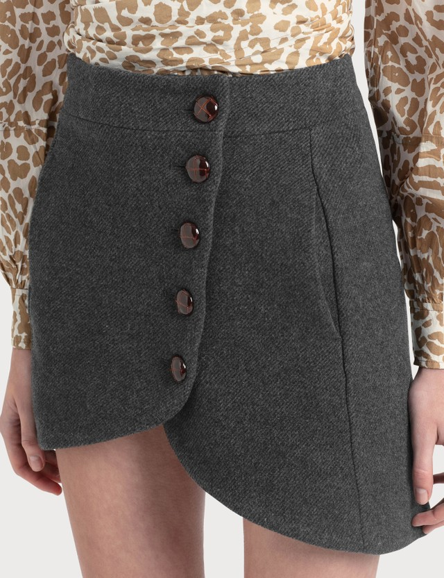 Ganni Heavy Wool Mini Skirt