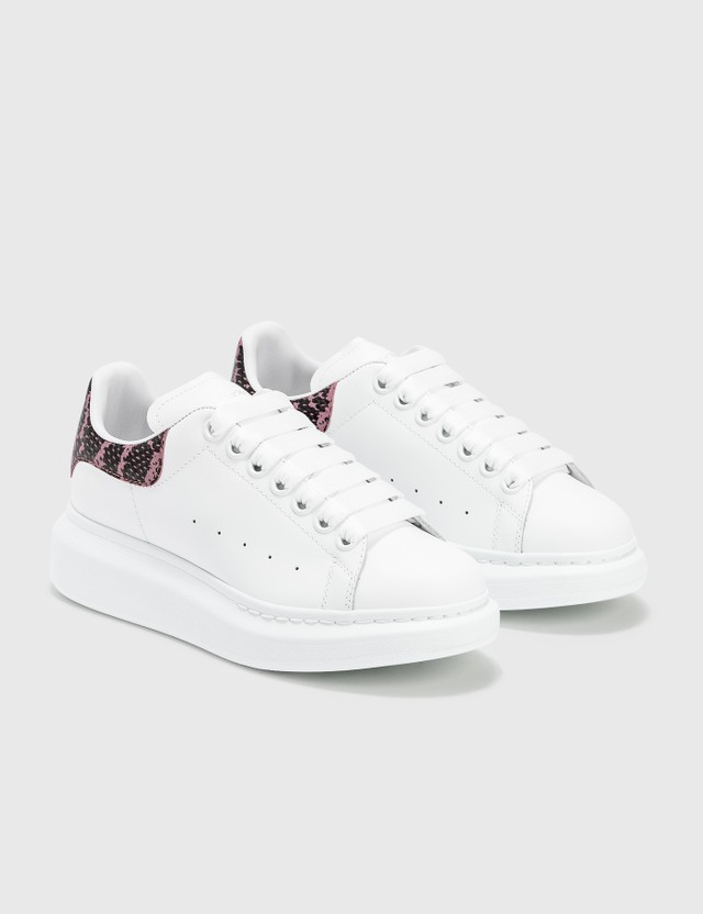 Alexander McQueen Oversized Sneakers With Python Print White/quilt Pink Women