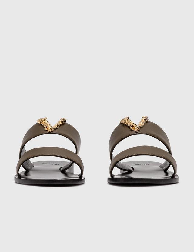 Versace 버투스 플랫 Mules Oud-oro Caldo Women